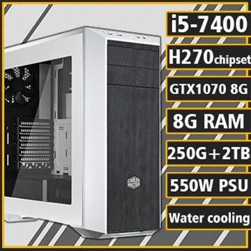 [黑沙戰神] - 七代Ci5水冷H270平台GTX1070獨顯組裝電腦(雙碟版)