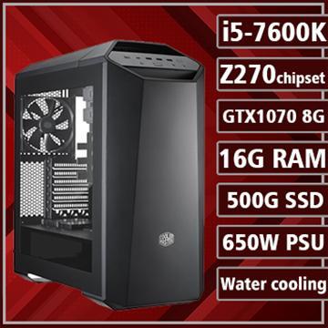 [炎龍之怒] - 七代K版Ci5水冷Z270平台GTX1070獨顯組裝電腦(電競SSD)
