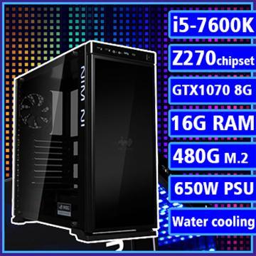 【王者天下】 - 七代K版Ci5水冷Z270平台GTX1080獨顯組裝電腦(PCIe SSD)(17008-5Z27)