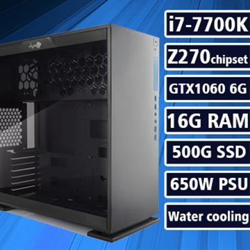 技嘉Z270平台[沙漠之鷹] i7-7700K/GTX1060 水冷組裝電腦 17015-7Z27