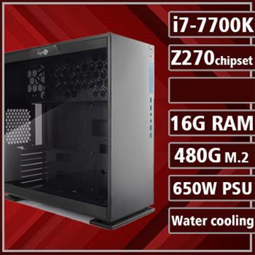 [鋼鐵勇士] - 七代K版Ci7水冷Z270平台組裝電腦(PCIe SSD) 17020-7Z27