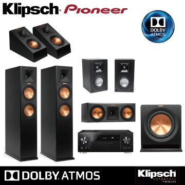 Pioneer+Klipsch ATMOS全景声家庭剧院组(VSX1131+RP系列+RP140SA)