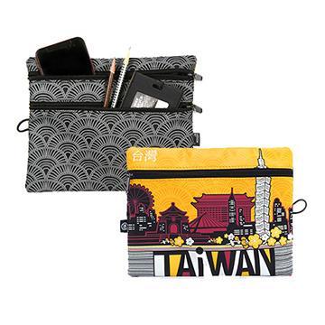 indulgence TAiWAN三層收納包-澄黃