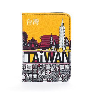indulgence TAiWAN 護照套-澄黃