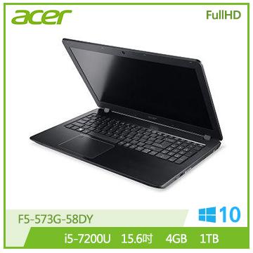 【福利品】ACER F5-573G 15.6吋獨顯筆電(i5-7200U/940MX/4G DDR4)
