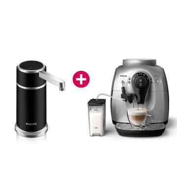 飞利浦全自动义式咖啡机+飞利浦超滤橱上型净水器 WP3856(HD8652)