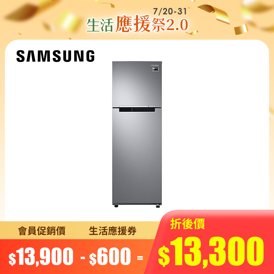 SAMSUNG 258公升极简双门变频冰箱(RT25M4015S8/TW)
