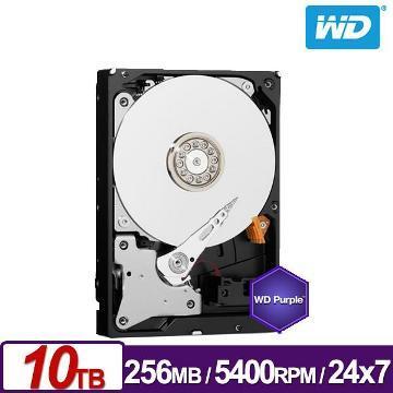 WD 3.5吋 10TB SATA監控系統硬碟(紫標)