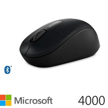 【拆封品】微软 Microsoft  无线行动鼠标 4000 - 黑(D5D-00007)