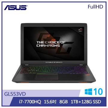 ASUS GL553筆記型電腦(1T+128S)(GL553VD-0021B7700HQ)