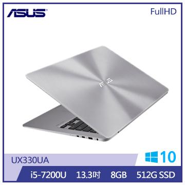 ASUS UX330UA筆記型電腦(灰)(UX330UA-0161A7200U)