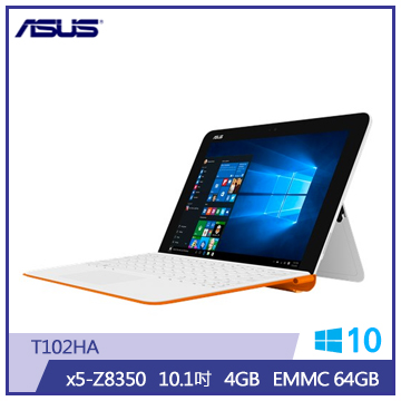 ASUS T102HA筆記型電腦(4G/64S/白橘)(T102HA-0103AZ8350)