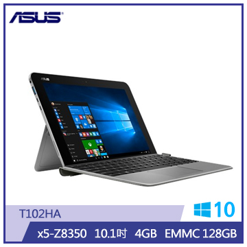 ASUS T102HA筆記型電腦(4G/128S/金屬灰)