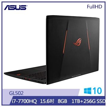 ASUS GL502筆記型電腦(1T+256S/黑)(GL502VM-0121A7700HQ)