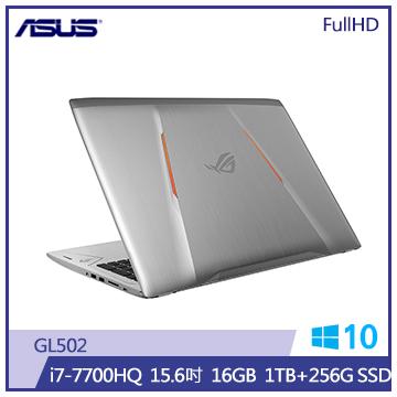 ASUS GL502筆記型電腦(1T+256S/灰)(GL502VM-0111E7700HQ)
