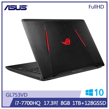 ASUS GL753VD筆記型電腦(GL753VD-0131B7700HQ)