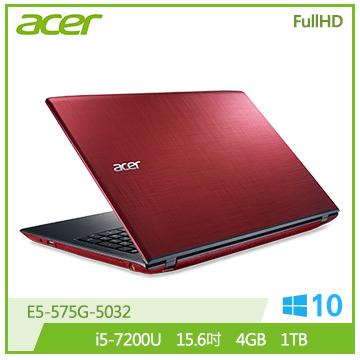 ACER E5-紅 15.6吋FHD筆電(i5-7200U/4G/1TB/光碟機)