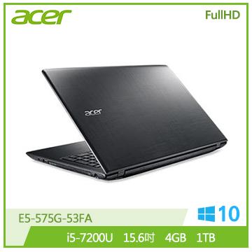 ACER E5-575G-53FA 筆記型電腦(黑)
