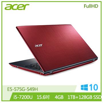 ACER E5-紅 15.6吋FHD筆電(i5-7200U/MX940/4G/SSD)
