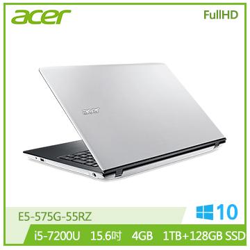 ACER E5-575G-55RZ 筆記型電腦(白)
