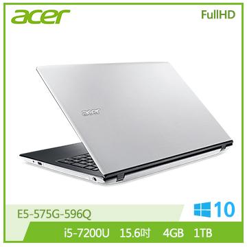 ACER E5-575G-596Q 筆記型電腦(白)
