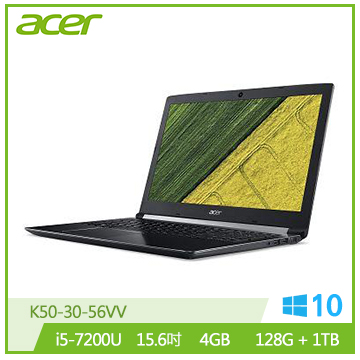【福利品】ACER 15.6吋混碟筆電(i5-7200U/940MX/4GB DDR4)
