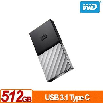 WD My Passport SSD 512GB 外接式固态硬盘(WDBK3E5120PSL-WESN)