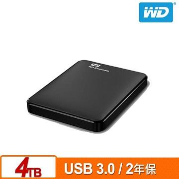 WD 2.5吋 4TB 行動硬碟(Elements WESN)