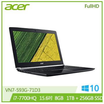 ACER VN7-593G-71D3 筆記型電腦(黑)