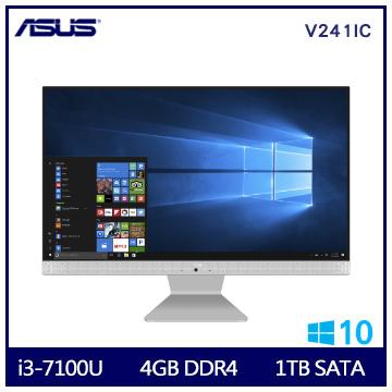 【24型】ASUS AIO i3-7100 DDR4-4G桌上型電腦(V241ICUK-710WA001T)