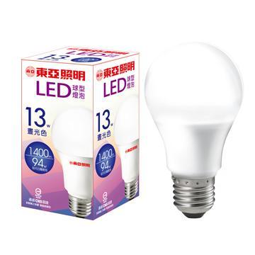 東亞13W LED球型燈泡-晝光色(LLA015A-13AAD)