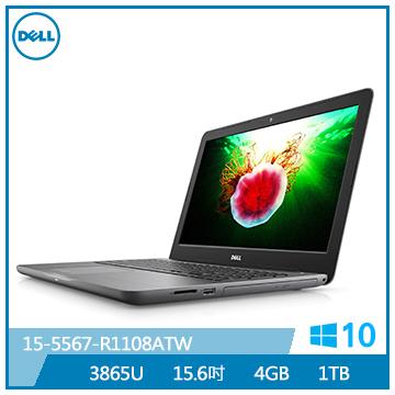 【福利品】DELL 15.6吋超薄輕巧筆電(3865U/4G/1TB)