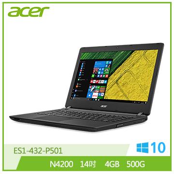 ACER ES1-432-P501 筆記型電腦(黑)