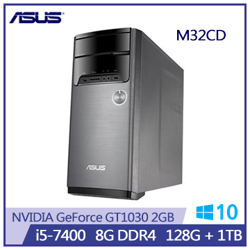 ASUS M32CD i5-7400 GT1030-2GB DDR4-8G桌上機