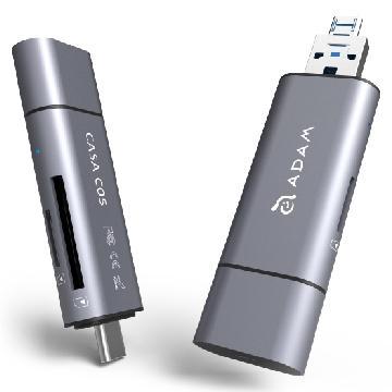 亚果元素 ADAM CASA C05 五合一多功能读卡机 - 灰色(CASA C05 灰)