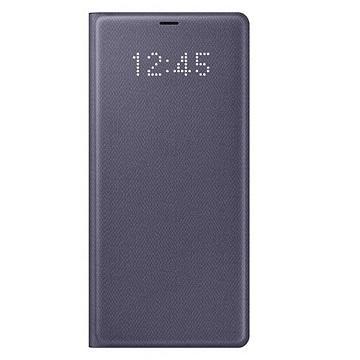 SAMSUNG GALAXY Note 8 原厂LED皮革翻页式皮套 - 紫色(EF-NN950PVEGTW)