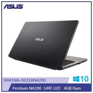 ASUS X441NA-黑 14吋筆電(N4200/4G/500G/光碟機)