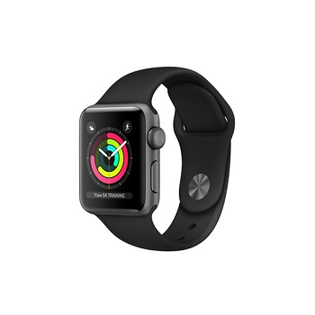 【38mm】Apple Watch S3 太空灰鋁金屬/黑色運動錶帶