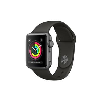 【38mm】Apple Watch S3 太空灰鋁金屬/灰色運動錶帶