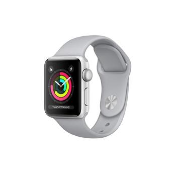 【38mm】Apple Watch S3 銀色鋁金屬/薄霧灰色運動錶帶