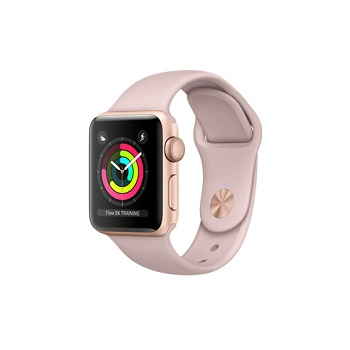 【38mm】Apple Watch S3 金色鋁金屬/沙粉色運動錶帶