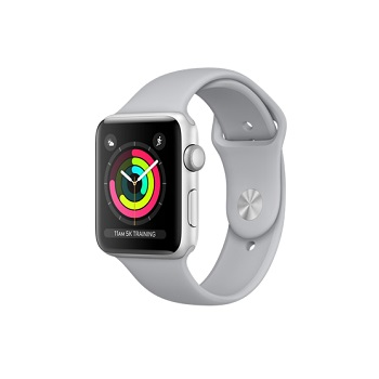 【42mm】Apple Watch S3 銀色鋁金屬/薄霧灰色運動錶帶