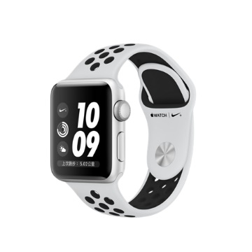 AW S3 Nike+ 42mm/銀色鋁金屬/白黑運動