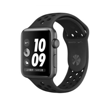 AW S3 Nike+ 42mm/黑色鋁金屬/黑黑運動