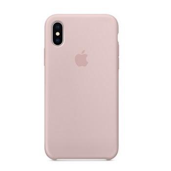 iPhone X 矽膠保護殼-粉沙色