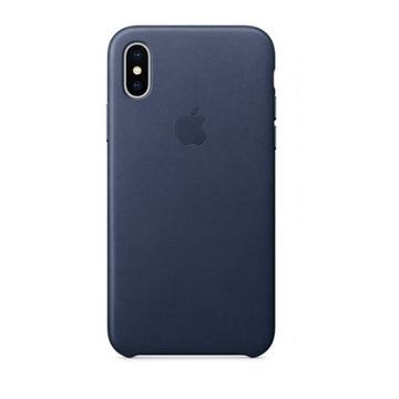 iPhone X 皮革保护壳-午夜蓝色(MQTC2FE/A)
