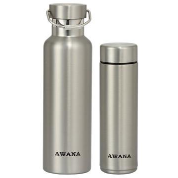 AWANA不鏽鋼真空保溫瓶二入組