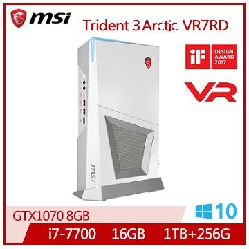 MSI Trident3Arctic VR i7-7700 GTX1070-8G M.2SSD-256G桌上機