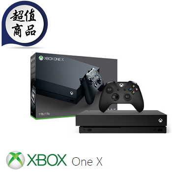 """""""双十限定组合""""【1TB】XBOX ONE X 主机 - 黑潮版(CYV-00020)"""