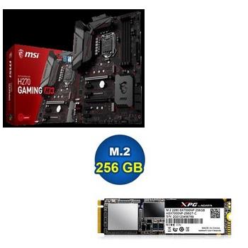 微星H270 GAMING M3主機板+威剛 M.2 2280 256GB電競固態硬碟
